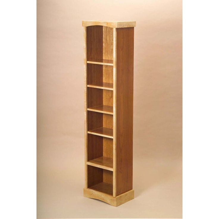 Custom Made Tall Narrow Bookcase