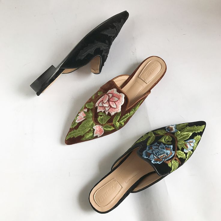 """🌻 🌻 🌻 $31.50,  Women's Floral Embroidered Pointed Toe Slip-on Mules Flats Shoes Use code """"LADYSTO"""" to get 15% OFF & one FREE chic socks. from @ladystoofficial. . . .  🌻 🌻 🌻 Peep Toe Pea Coats Shops Home Lucchese Socks Cute Dresses Cargo Pants Sketchers Color Combos Long Sleeve Walk In Dress Pants With Jeans Sandles Square Toe Keen Shoes Gifts Tan Plus Size Clothing Cheap Bean Boots Leather Muck Boots Keen Teva Girls Knit Walking Shoes Grey Ankle Boots 🌻 🌻 🌻 @ladystoofficial #ladysto"""