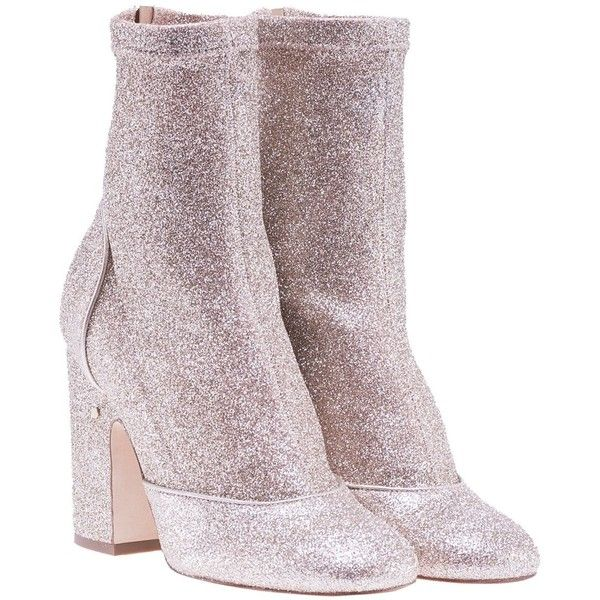 Melody Metallic Stretch Boots ($770) ❤ liked on Polyvore featuring shoes, boots, light gold, womenshoes, stretchy shoes, stretch shoes, zipper shoes, high heeled footwear and laurence dacade shoes