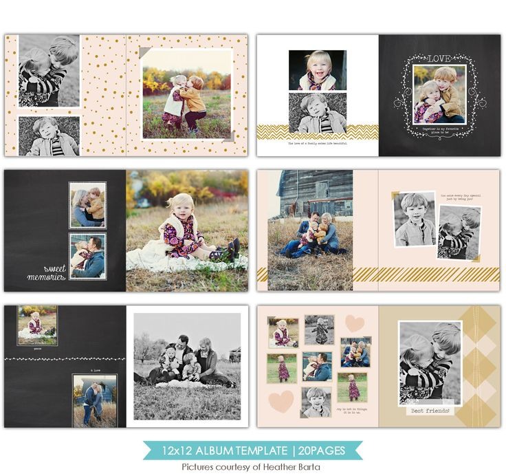 12x12 Family Album template - Free spirits - E754 Family album - free album templates
