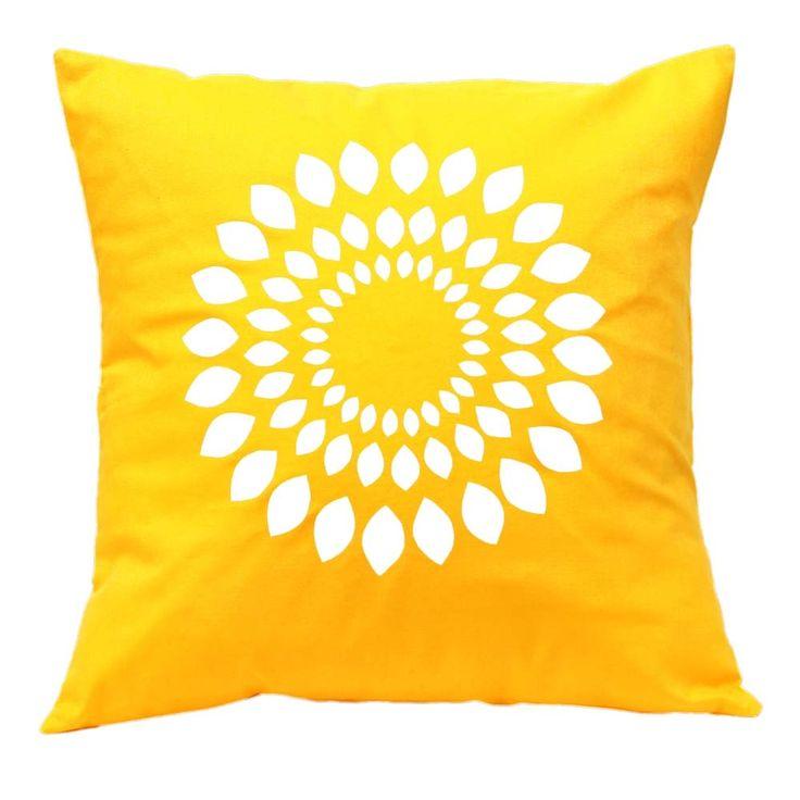 Leaf circle handmade cushion cover (various colours) | hardtofind.