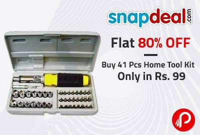 Buy 41 Pcs Home Tool Kit Only in Rs. 99| Flat 80% OFF – Snapdeal