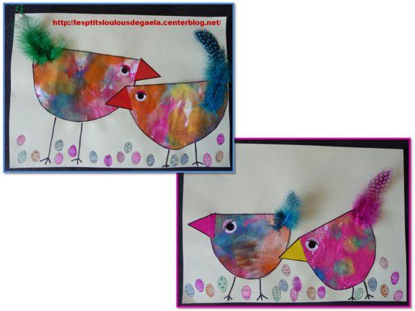 Bricolage enfants pour Pâques. Petites poulettes !!!