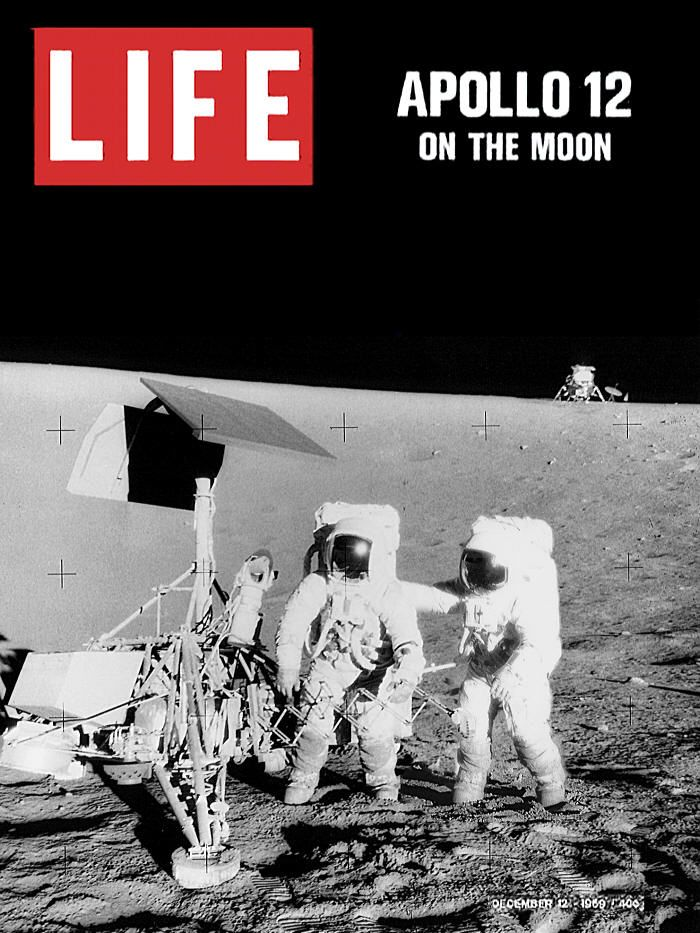 Life, December 1969  Since their video camera burned out shortly after landing, this is the best look most Americans got of Apollo 12.