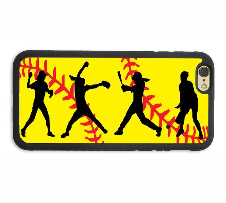 PERSONALIZED NAME GIRL SOFTBALL PHONE CASE COVER FOR IPHONE X 8+ 7 6S 6 SE 5S 5C #UnbrandedGeneric