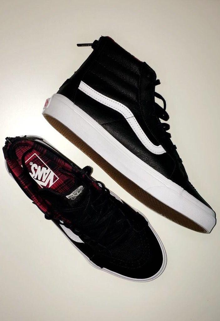 VANS Sk8-Hi Slim Zip, Unisex-Erwachsene Sneaker | Schwarz ((Plaid Flannel) black/true white)