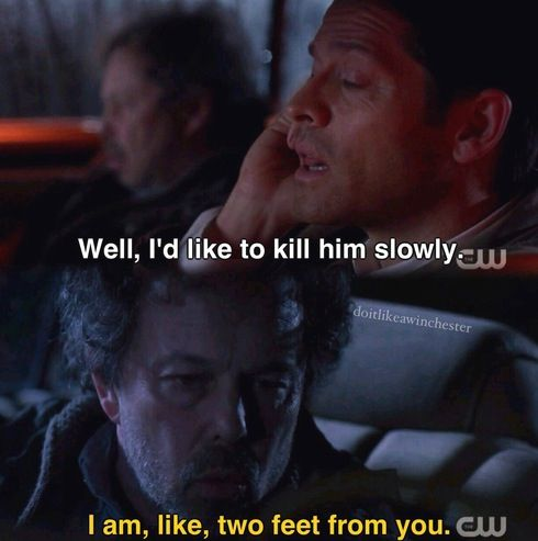 Wouldn't we all 10x18 The Book of the Damned - Castiel, Metatron; Supernatural - Gotta love Cas ♥