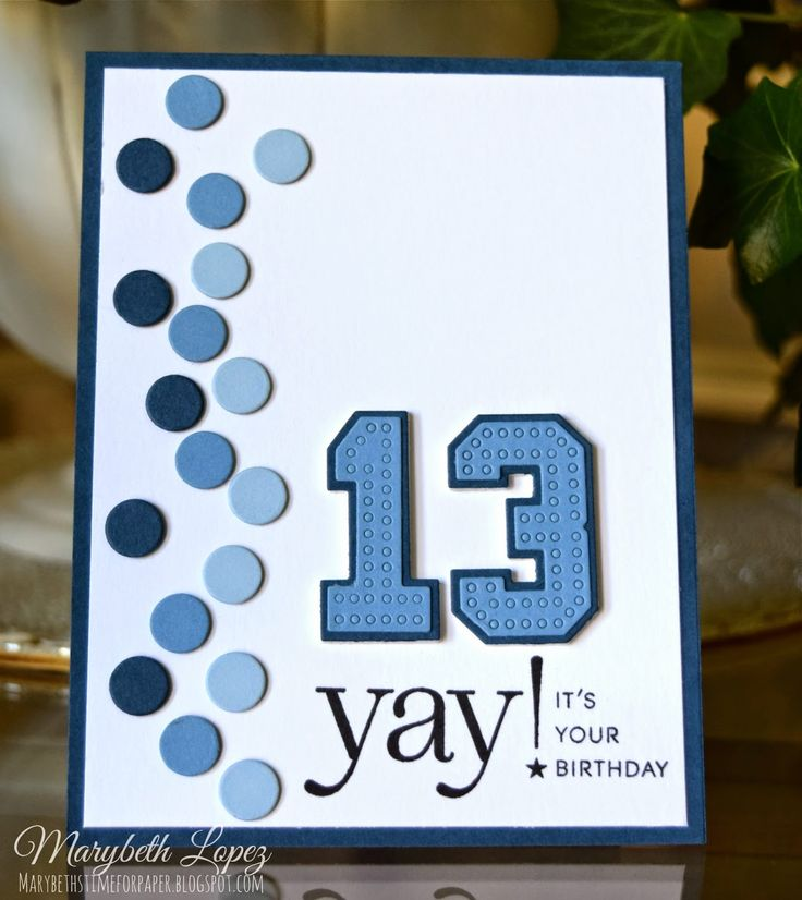Marybeth's time for paper: Doing The Polka using Letterman Stitched Numbers; Stylish Sentiments: Birthday