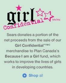 Girl Confidential(TM/MC) Plan Canada Tote Bag - Empower Girl - Made in Bangladesh, 100% of profits go to Because I am a Girl, a charity that helps empower young women around the world.