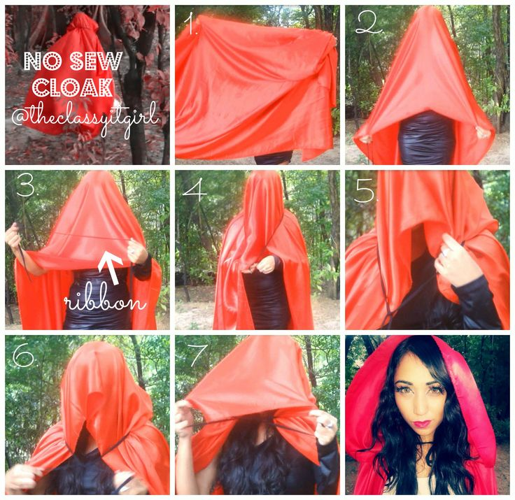 DIY easy hooded cape - Google Search