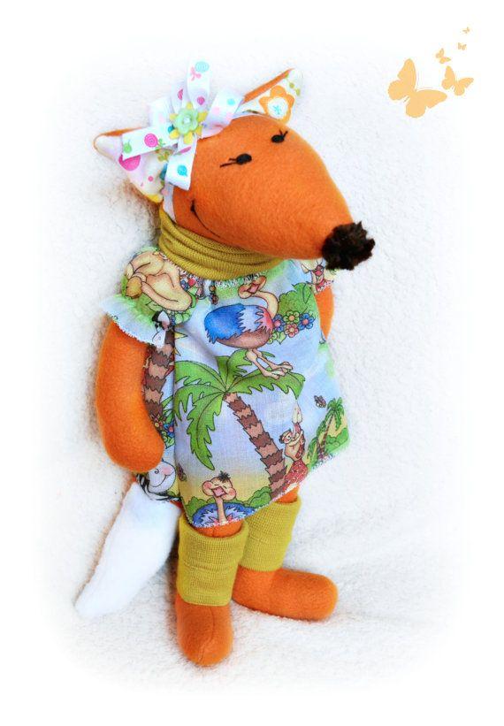 Fox Toy Rag Doll Stuffed Fox Waldorf Toy by Fairybugcreativetoys