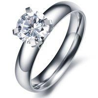 Женские обручальные кольца обручальное кольцо кристалл ювелирные изделия из нержавейки для женщин дизайнер элементы оптовая продажа GJ354
