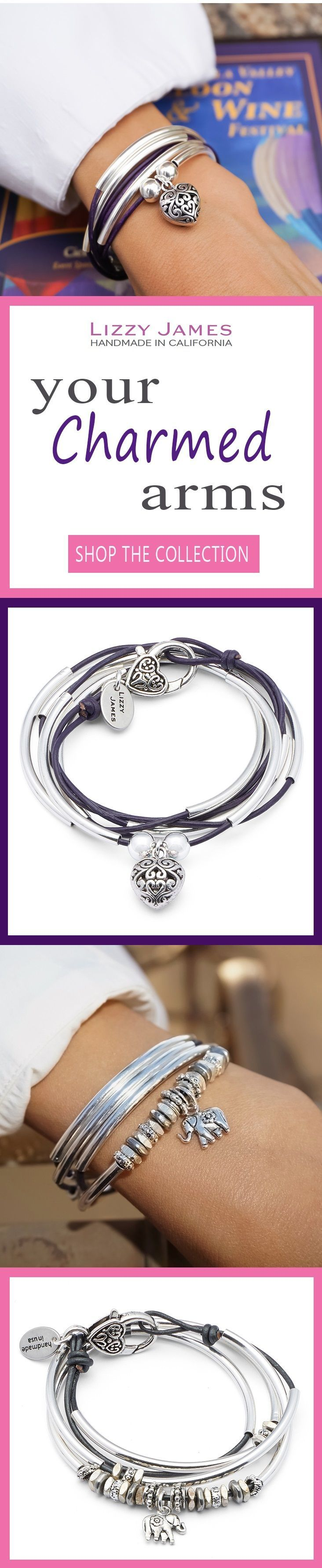 Design your own photo charms compatible with your pandora bracelets. NEW Fall 2016 styles! FREE Shipping on USPS orders plus 15% OFF for all 1st time buyers, let Lizzy James Jewelry help you Fall into Style this Season! Featuring leather & cotton cord wrap bracelets that can also be worn as necklaces, our designs fit all wrist sizes from petite to plus size. Proud to be made in the USA! #lizzyjames