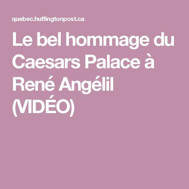 Le bel hommage du Caesars Palace à René Angélil (VIDÉO)