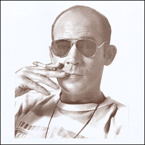 Hunter S Thompson Smoking Shirt