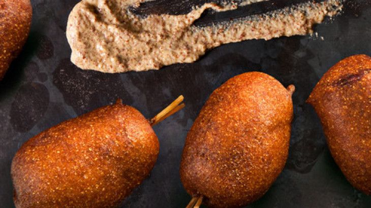 Mini Beer-and-Sausage Corn Dogs Recipe | Dips, Snacks and Party Appet ...