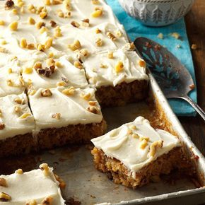 Pineapple Sheet Cake Recipe -This sheet cake is perfect for serving to a crowd. It keeps so well that you can easily prepare it a day ahead and it will stay moist. I often bring it to church potlucks, and I have yet to take much of it home. —Kim Miller Spiek, Sarasota, Florida