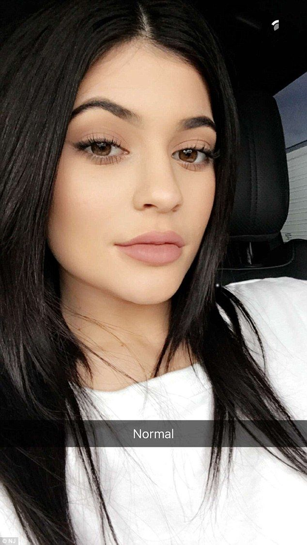 Kylie Jenner says her pout is product of artful posing...DESPITE previously admitting to lip fillers | Daily Mail Online