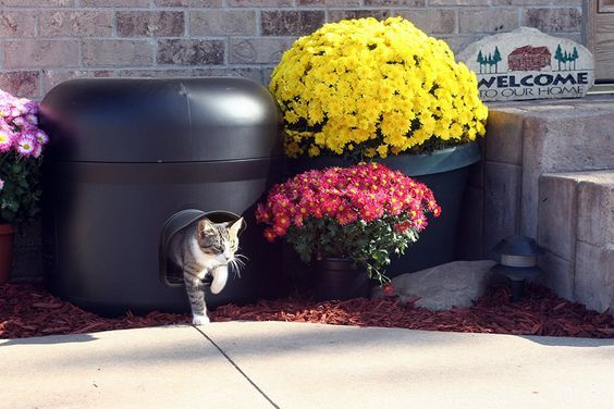 The NEW IMPROVED Kitty Tube-GENERATION 2. Outdoor Insulated Cat House - Feral Option with Straw. -- Check out the image by visiting the link.