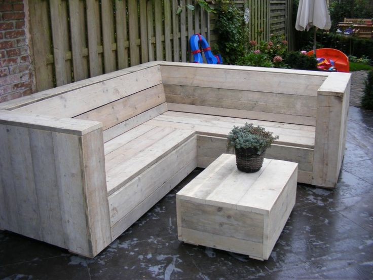 Lounge hoekbank oud steigerhout niet geschuurd (22131541) (lhb)