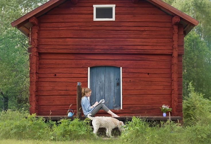 Falu Red- is the name of a Swedish, deep red paint well known for its use on wooden cottages and barns for preservation.