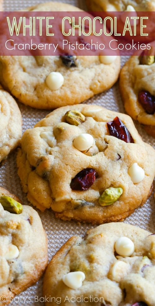 Sweet & Salty White Chocolate Cranberry Pistachio Cookies