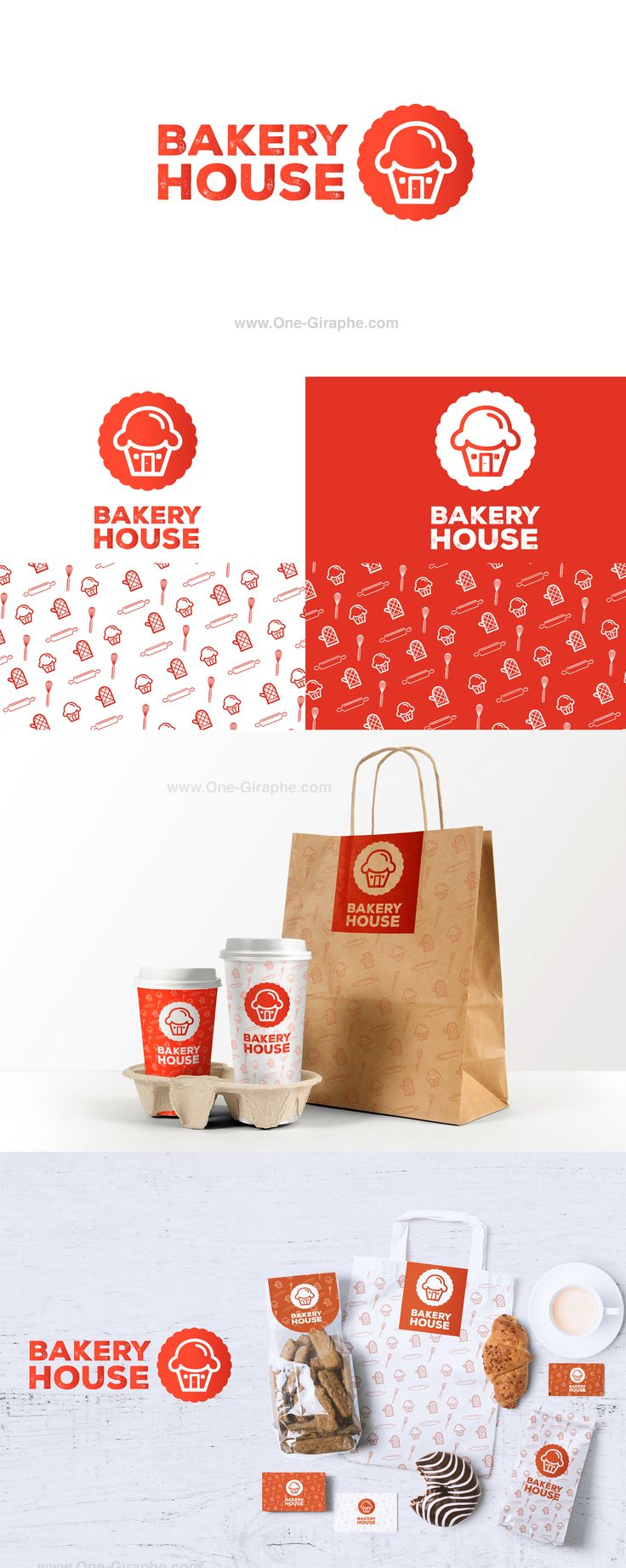 Bakery House -Branding for sale! http://www.one-giraphe.com/prev.php?c=195 #logo…