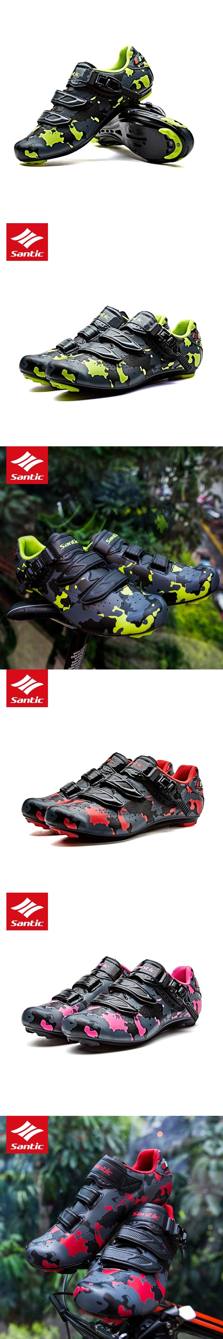 2017 New Arrival Santic Professional Road Cycling Shoes Men Road Bike Shoes Nylon Soles Cozy Self-locking Bicycle Shoes Sneakers
