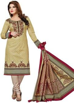 Dertaste Cotton Printed Salwar Suit Material