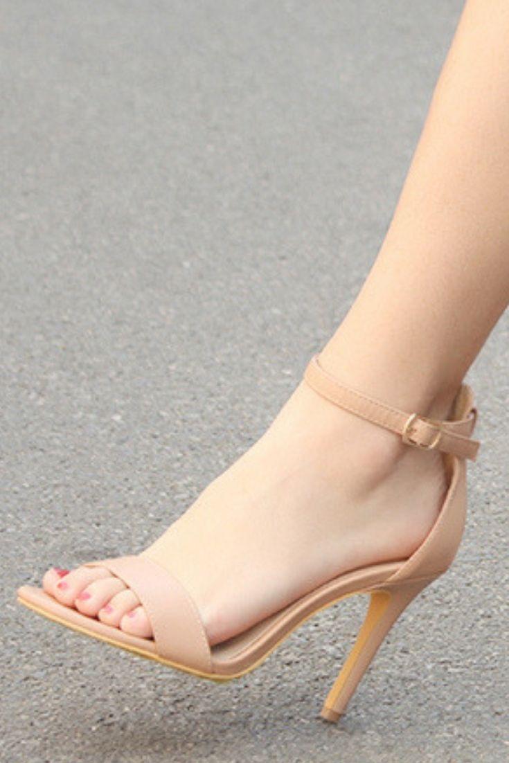 136a52d0d6d stiletto heel, lace-up, adjustable ankle strap design, open toe ...