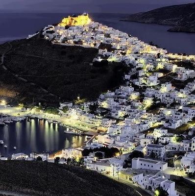 Astypalaia Island at night-Hellas, Greece