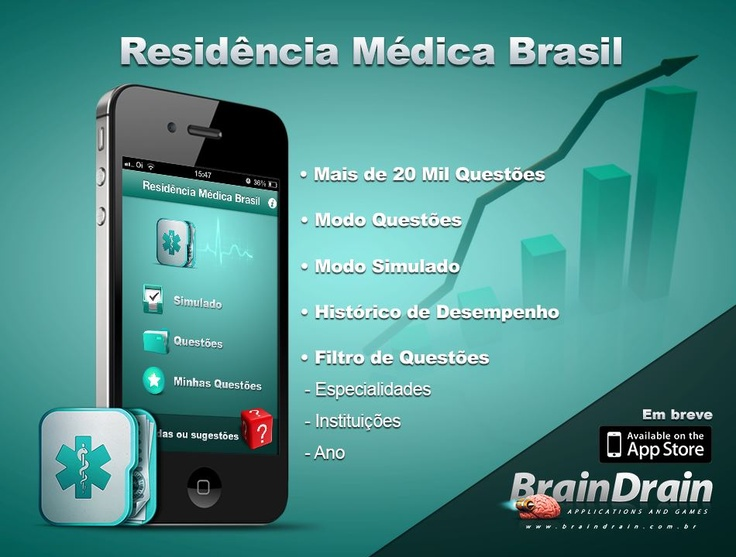Aplicativo Residência Médica Brasil |   - + de 20mil questões  - modo questão  - modo simulado  - histórico de desempenho  ...e muito mais.