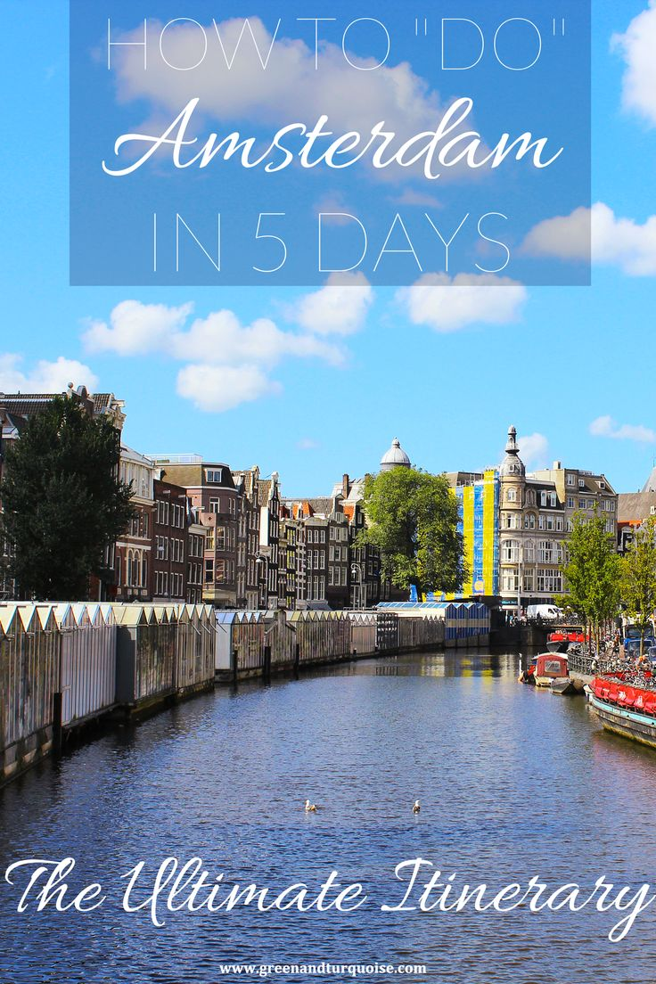 Are you going to spend 5 days in Amsterdam? Then this itinerary is a great fit for you! It offers up the best things to see & do in A'Dam. Check it out!