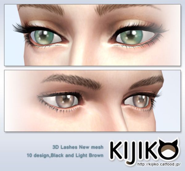 The Sims 4 | 3D Eyelashes (Curly Edition) female and male adult CAS accessories new mesh
