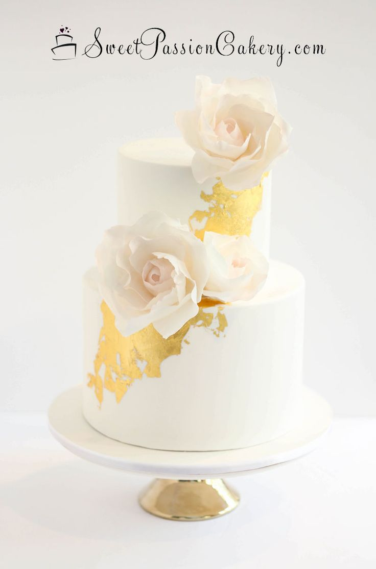 shabby chic bridal shower cakes%0A Gold Leaf Bridal Shower Cake with Blush Peony Roses  www sweetpassioncakery com