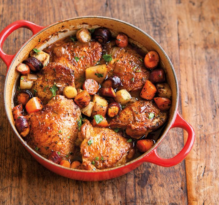 Porter-Braised Chicken with Root Vegetables