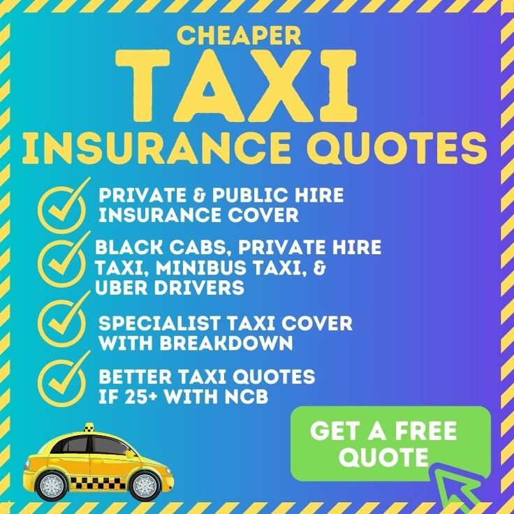 Compare Cheap Taxi Insurance Quotes From Multiple Brokers