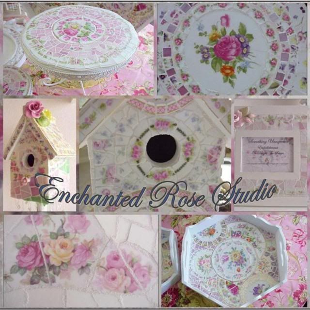 Enchanted Rose Studio: HOW TO CREATE BROKEN CHINA MOSAICS (PIQUE ASSIETTE) ~ BASIC STEPS