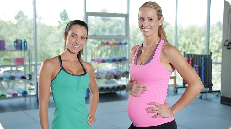 One on One Second Trimester Maternity Workout with Autumn Calabrese - YouTube