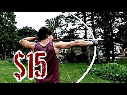 Easy, Cheap, POWERFUL Bow (NO Power Tools or Heat Needed) - YouTube