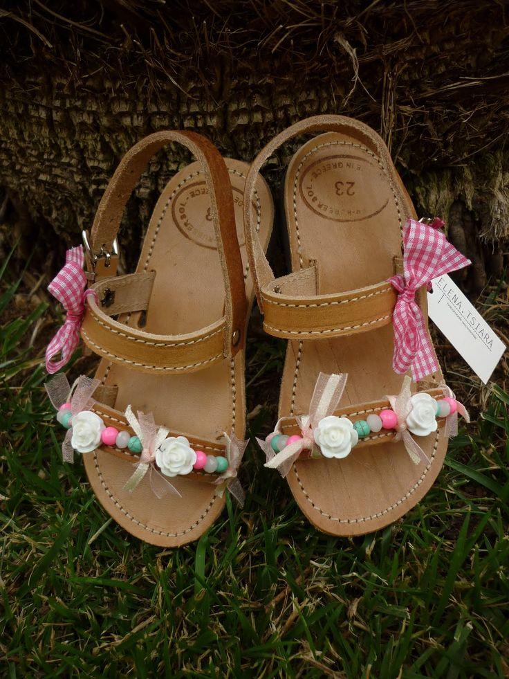 elenas sandals: χειροποίητα παιδικά σανδάλια