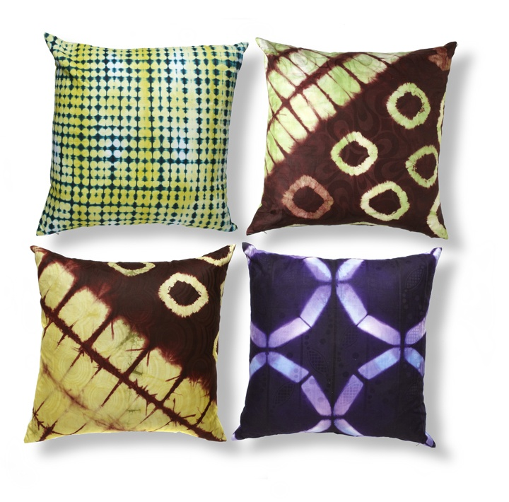 "Mali Batik Pillows  18"" X 18""  Down Inners"