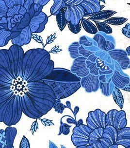 Keepsake Calico Fabric- White & Blue Large Floral & keepsake calico fabric at Joann.com