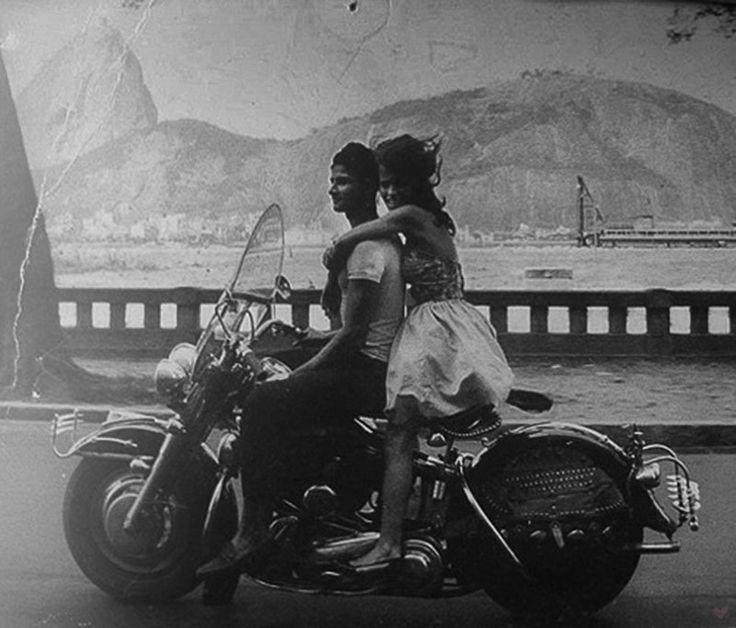 Superb Vintage Motorcycle Harley Couple