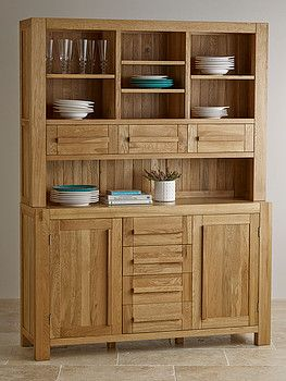Fresco Natural Solid Oak Large Dresser Furniture