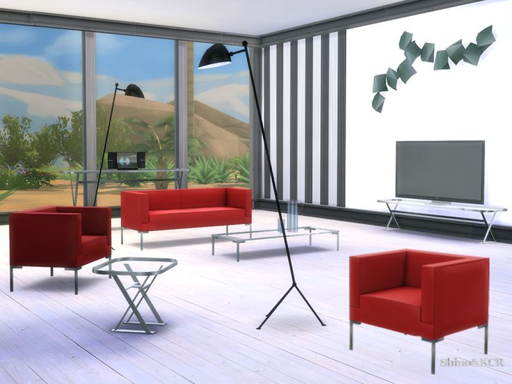 Inspired By The Furniture Fair Milan 2015 I Created This Very Minimalistic  And Modern Livingset Found In TSR Category U0027Sims 4 Living Room Setsu0027