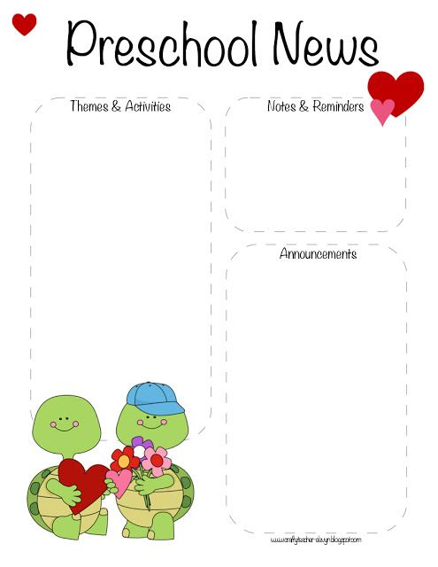 The  Best Preschool Newsletter Ideas On