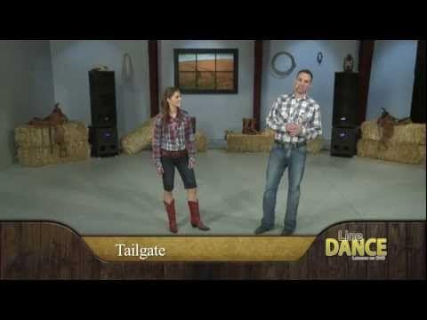 Line Dance Lessons - Tailgate Line Dance Instruction - YouTube