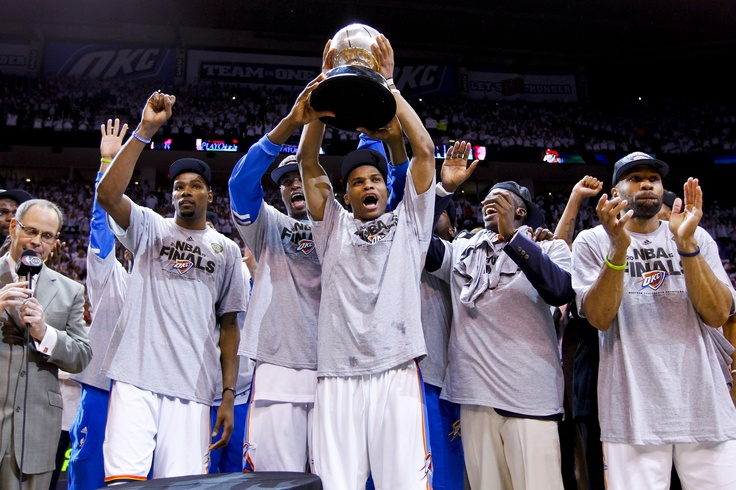 Kevin Durant, Russell Westbrook, and Derek Fisher, Oklahoma City Thunder