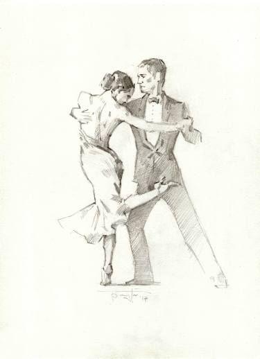 Танго в картинках карандашом, своими руками какой